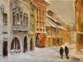 Sopron télen: Olaj- vászon 50x70 cm