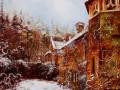 Téli kastély: Olaj vászon 40x40 cm