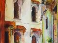 Marokkói sikátor Olaj-farost 25x60 cm